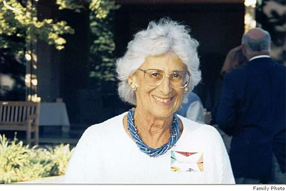 Obit photo of Ruth Levison Halperin who died wednesday at her home in Atherton of cancer.  She was 81 years old. - A former trustee (1986 -1996) of Stanford University was instrumental in preserving the importance of the arts at the university and was billed as ?a force to be reckoned with? by the university?s president, John Hennessy. Photo: Family Photo, Family
