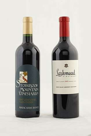 2007 Storybook Mountain Vineyards Zinfandel Napa Estate (left) and 2007 Larkmead Vineyards Napa Valley Cabernet Sauvignon in San Francisco, Calif., on June 23, 2010. Photo: Craig Lee, Special To The Chronicle