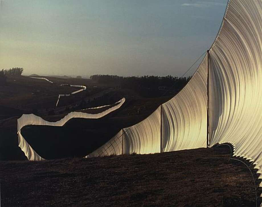 "Christo and Jeanne-Claude's ""Running Fence""... Sonoma and Marin counties, California 1972-1976 Photo: Jeanne-Claude, Smithsonian American Art Museum"