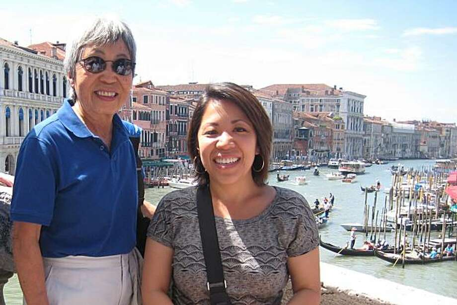 Melodie Lew and Jennifer Lew-Andrews on the Rialto Bridge over the Grand Canal. Photo: Courtesy, Jennifer Lew-Andrews