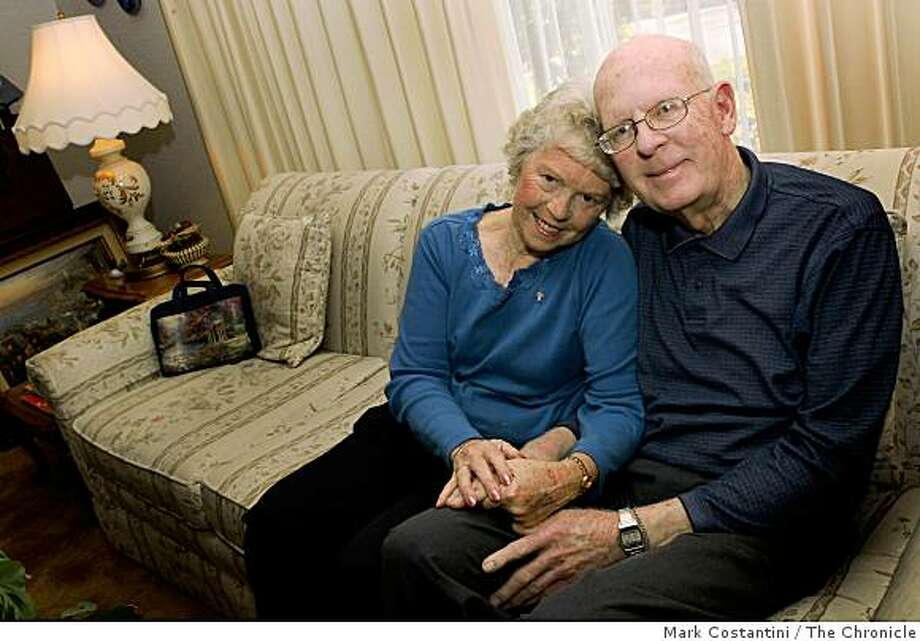 Dottie(left) and Bill Nickels pose in Sunnyvale, Calif. on Monday, November 17, 2008 Photo: Mark Costantini, The Chronicle