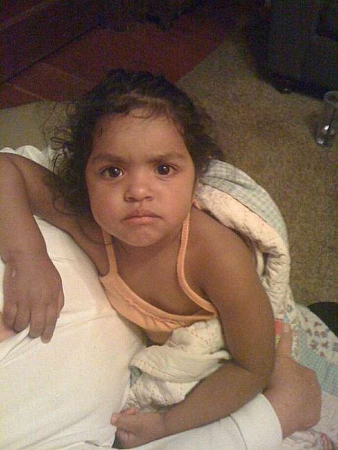 "Toddler tentatively identified only as ""Yolanda,"" found wandering the Petaluma streets late June 20. Photo: Petaluma Police Department"