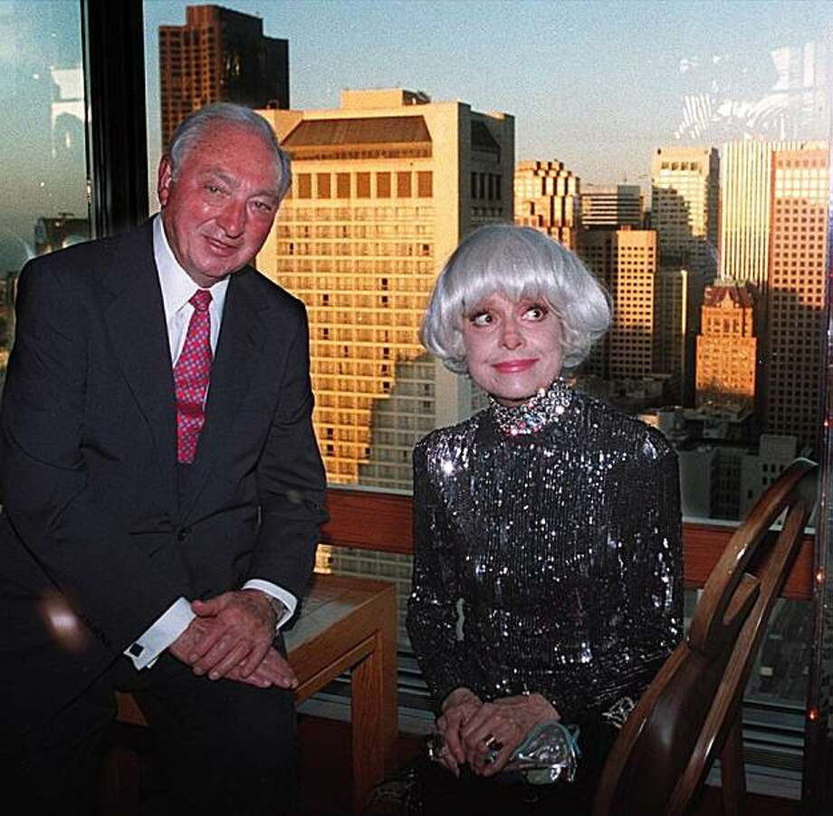 WALTER SHORENSTEIN AND Carol Channing Photo: John O'Hara, The Chronicle