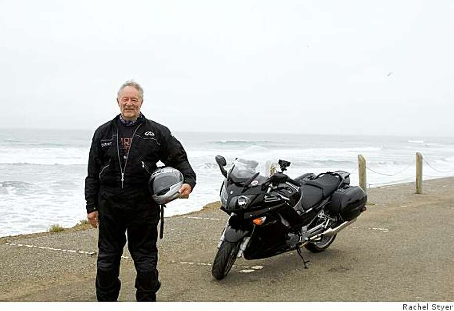 Derek Jones started riding motorcycles 10 years ago when he moved to the Bay Area. His love of long-distance touring trips prompted him to get his Yamaha FJR 1300 ABS six months ago. Photo: Rachel Styer