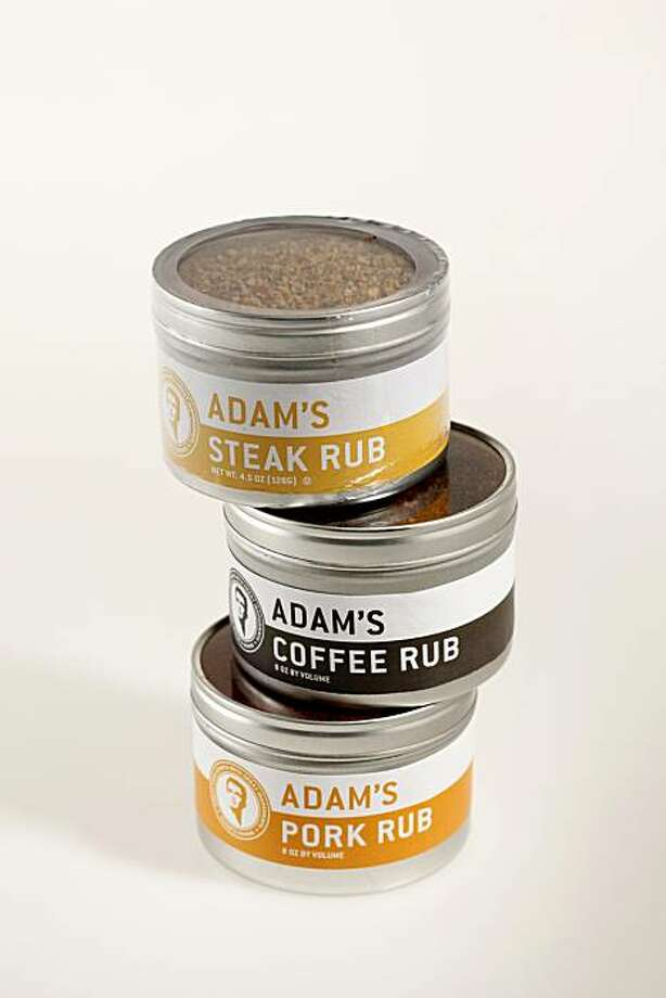 Three different Adam's steak, pork and coffee rubs in San Francisco, Calif., on March 31, 2010. Photo: Craig Lee, Special To The Chronicle