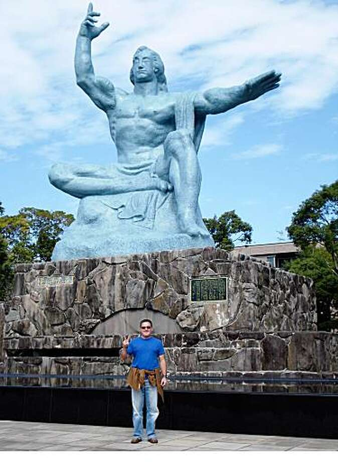 TRAVEL JUSTBACK -- Alex Kettner, PetalumaEmail: akettner@earthlink.netDaytime phone number: 626-379-3572Just back from: Nagasaki, JapanI went because: To visit friends of mine. They are a married couple with a young child who had lived in Japan for over two years.Don't miss: The Nagasaki Peace Park. The museum here is amazing and depicts the hours and minutes before and after the bomb was dropped.Don't bother: Attempting to converse in English is difficult here. I was told you have better luck in cities such as Tokyo and Kyoto.Coolest souvenir: A pair of ceramic tea cups bought at the Kurogawa onsen. These were made by a local ceramics maker.Worth a splurge: Try and make a trip to one of Japan's onsens (natural spring hot baths). We visited the Kurogawa onsen and were pampered beyond belief.I wish I'd packed: Next time I will bring a pair of sturdy slip-on shoes. These are very useful in a country where you are constantly taking off your shoes.Other comments: Details of attached photo (if sent): This is a photo of myself in front of a memorial statue in the Nagasaki Peace Park.10/22/07 in , .nagasaki.jpg