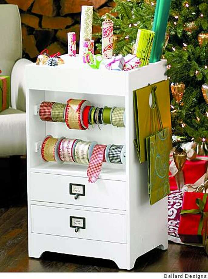 The wrapping cart, $249 from Ballard Designs. Photo: Ballard Designs