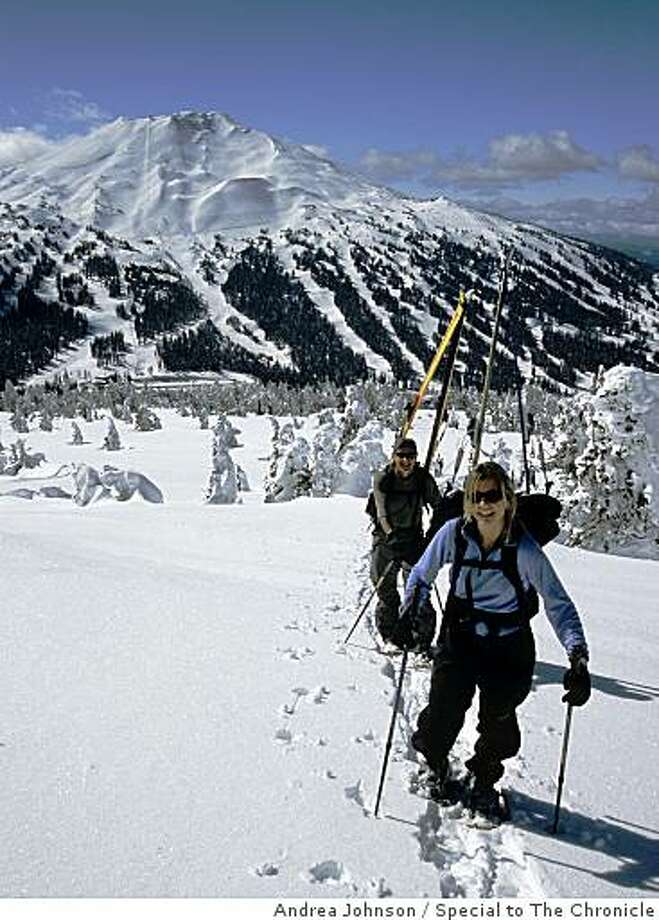Cross-country skiers climbing Tumalo Peak near Mount Bachelor. Photo: Andrea Johnson, Special To The Chronicle