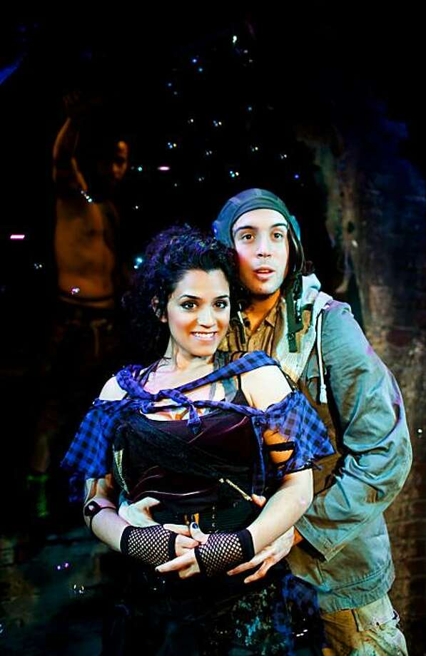 "Luisa (Sepideh Moafi) and Matt (Jeremy Kahn sing ""Soon It's Gonna Rain: )in SF Playhouse's staging of ""The Fantasticks"" Photo: Jessica Palopoli"