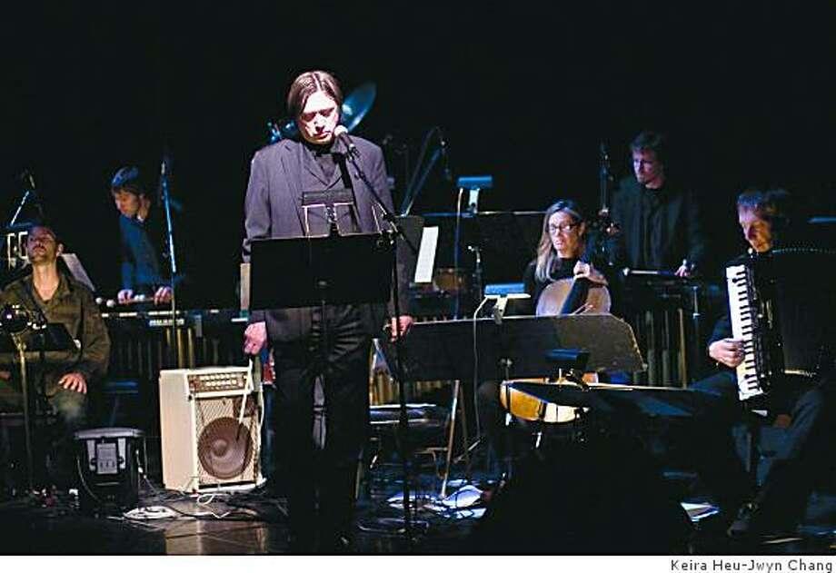Blixa Bargeld and Nanos Operetta perform Execution of Precious Memoriesat Yerba Buena Center on Wednesday Nov, 19, 2008 Photo: Keira Heu-Jwyn Chang