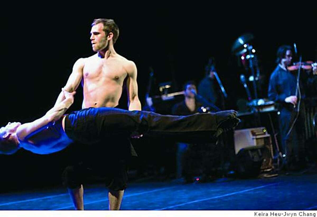 Dancers Andrew Ward and John Mercke in Execution of Precious Memories at Yerba Buena Center on Wednesday Nov, 19, 2008