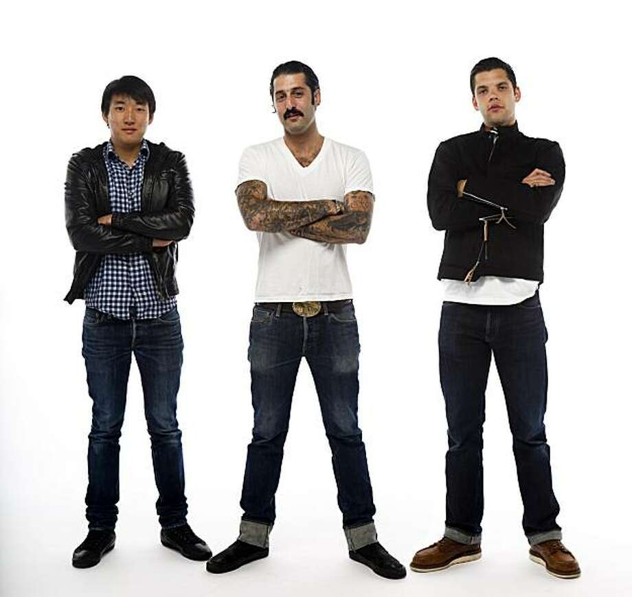 Bobby Yuen, left, Josh Harris, and Landon Eber pose for a photomontage in San Francisco, Calif. on Wednesday, June 9,2010. Photo: Russell Yip, The Chronicle