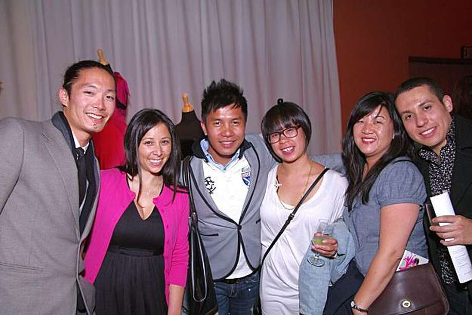 cq'd: Greg Sato, Marssie Versola, Jay Nicolas Sario (Project Runway); Christine Banares, Arlene Im and Rolando Armenta (designer)  at the April 29 Discarded to Divine Fashion Show. Photo: Ed Jay Photography