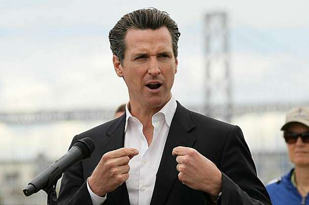 SAN FRANCISCO - MAY 18:  San Francisco mayor Gavin Newsom comments on a drill where trained U.S. Navy seals apprehended suspected terrorist divers during the Golden Guardian statewide port security exercise May 18, 2010 in San Francisco, California. The Golden Guardian Statewide Exercise Series was started by California Governor Arnold Schwarzenegger in 2004 and has become an annual statewide exercise series where law enforcement, emergency services and government agencies coordinate and hold drills to prepare for natural disasters and terrorist attacks. Golden Guardian is the largest statewide exercise program of its kind in the country. Photo: Justin Sullivan, Getty Images