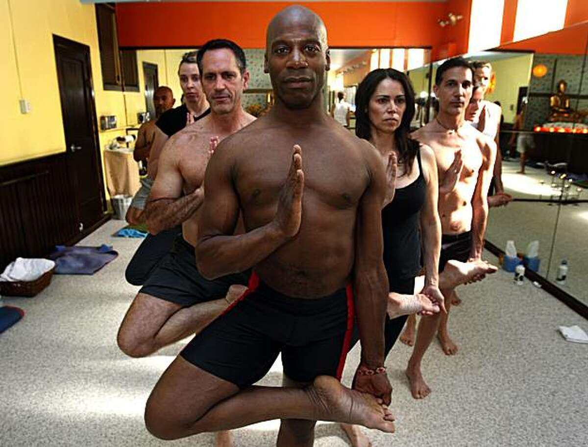 LaMott Atkins, a former star running back at Stanford, is now one of the city's most popular yoga teachers. He teaches 23 classes a week, and brings his form of health and peace to his clients. Tuesday June 8, 2010.