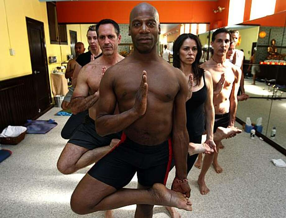 LaMott Atkins, a former star running back at Stanford, is now one of the city's most popular yoga teachers. He teaches 23 classes a week, and brings his form of health and peace to his clients. Tuesday June 8, 2010. Photo: Lance Iversen, The Chronicle