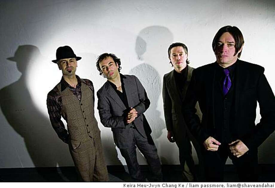 "From right to left, Ali Tabatabai, Yannis Adoniou, Craig Demel, Blixa Bargeld, will perform their musical theatre project, ""Execution of Precious Memories"", starting Thursday, November 20 through Sunday, November 23, Project Artaud Theatre, 450 Florida Street, San Francisco.From right to left, Ali Tabatabai, Yannis Adoniou, Craig Demel, Blixa Bargeld Photo: Keira Heu-Jwyn Chang Ke, Liam Passmore, Liam@shaveandahai"