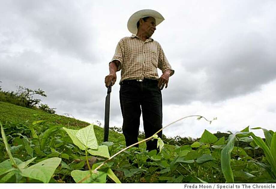 Santiago Rivera, a coffee farmer in northern California, who credits the fair trade movement with improving his family's standard of living. Photo: Freda Moon, Special To The Chronicle