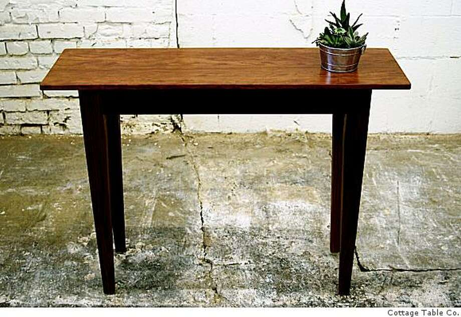 The small side table is also made from bubinga and is priced at $800.Cottage Table Co. Photo: Cottage Table Co.