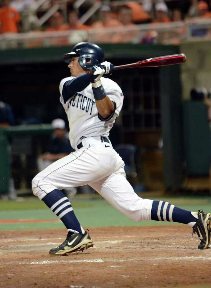 L.J. Mazzilli, a junior infielder from Greenwich, and his UConn teammates could eventually play at Harbor Yard, if his coach, Jim Penders, has any say in the matter. Photo: RICHARD SHIRO/Associated Press / (2011) Richard Shiro