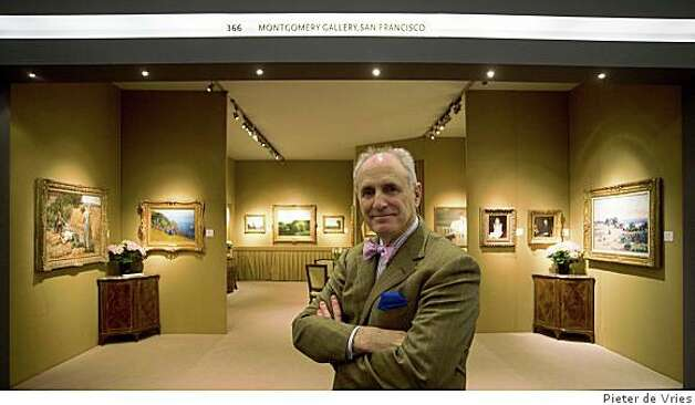 Peter Fairbanks in the Montgomery Gallery stand at the European Fine Art Fair, Maastricht, Netherlands, March 2008.TEFAF 2008, Peter Fairbanks, Montgommery Gallery Photo: Pieter De Vries, International Fine Arts Photogra