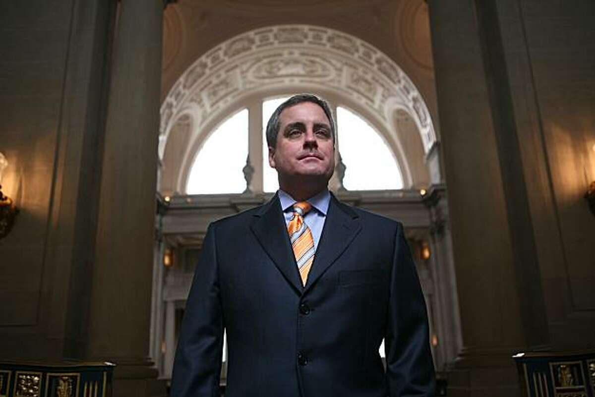 San Francisco City Attorney, Dennis Herrera stands for a portrait near his office in S.F. City Hall, on Wednesday Feb. 11, 2009 in San Francisco, Calif.