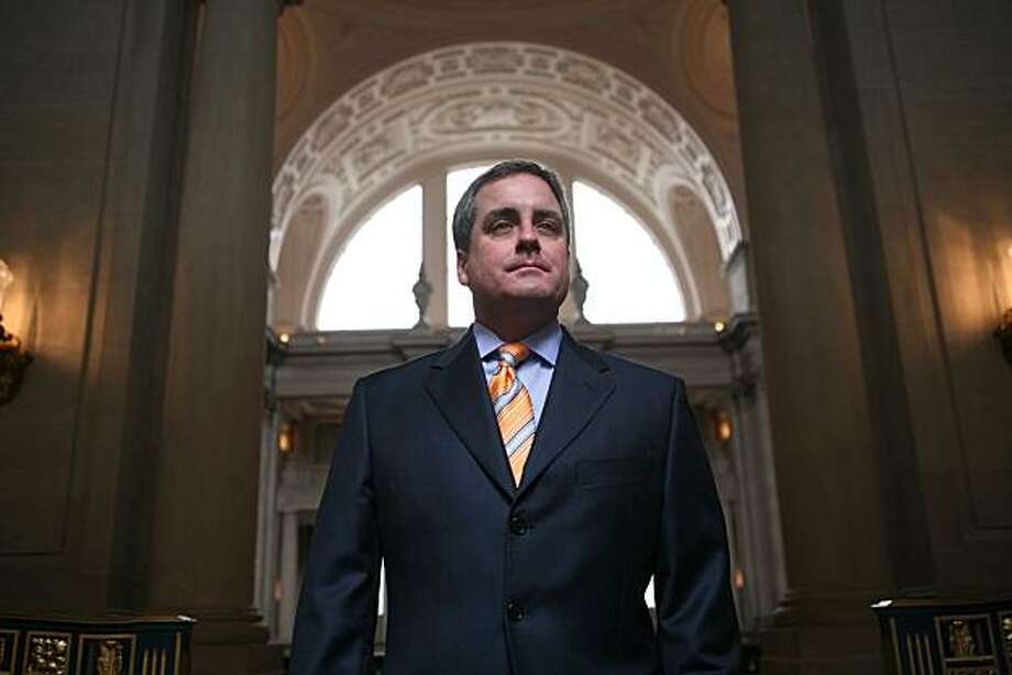 San Francisco City Attorney, Dennis Herrera stands for a portrait near his office in S.F. City Hall, on Wednesday Feb. 11, 2009 in San Francisco, Calif. Photo: Mike Kepka, The Chronicle