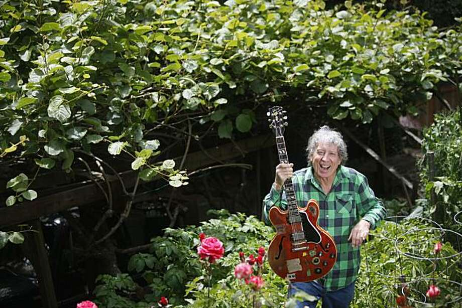 Blues artist and Marin County resident Elvin Bishop stands for a portrait in his front  yard garden on Tuesday May 25, 2010 in Lagunitas, Calif. Photo: Mike Kepka, The Chronicle