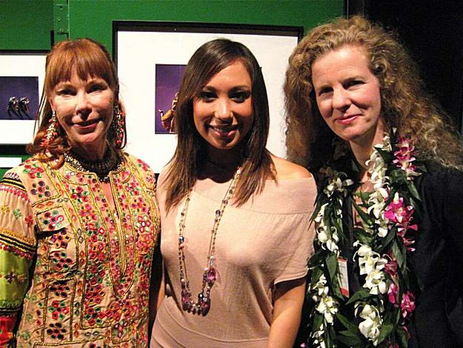 World Arts West Board President Susan Somaya (left) with Dancing With the Stars' Cheryl Burke and World Arts West Executive Director Julie Mushet at the Ethnic Dance Festival Gala. June 2010. Photo: Catherine Bigelow, Special To The Chronicle
