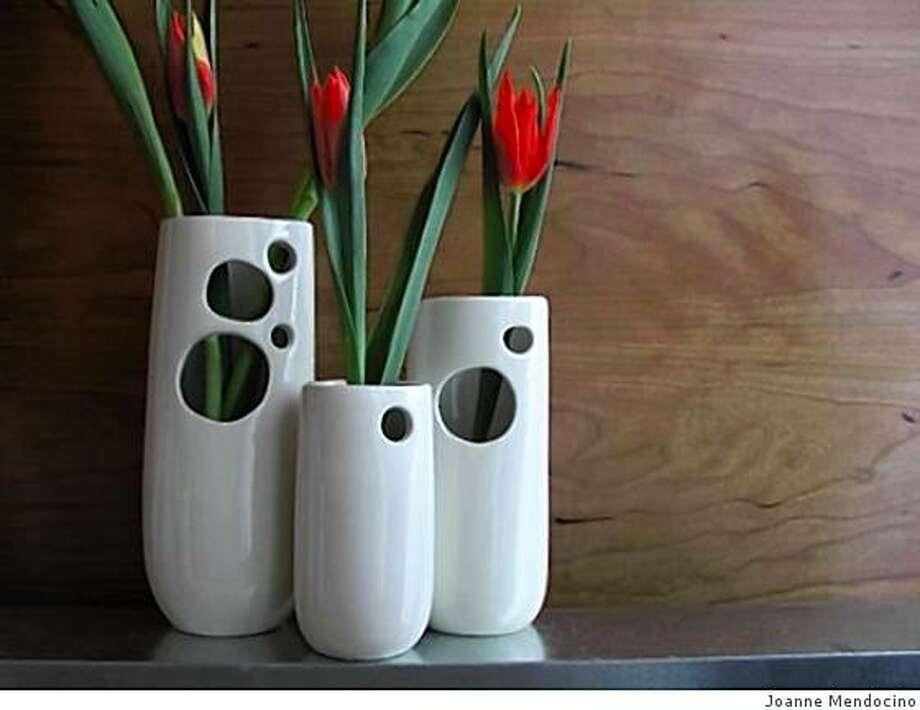 Vases created by Joanne Mendocino. Photo: Joanne Mendocino