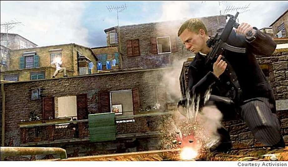Daniel Craig's face also appears in the Quantum of Solace video game, the latest game based on the James Bond character. Photo: Courtesy Activision