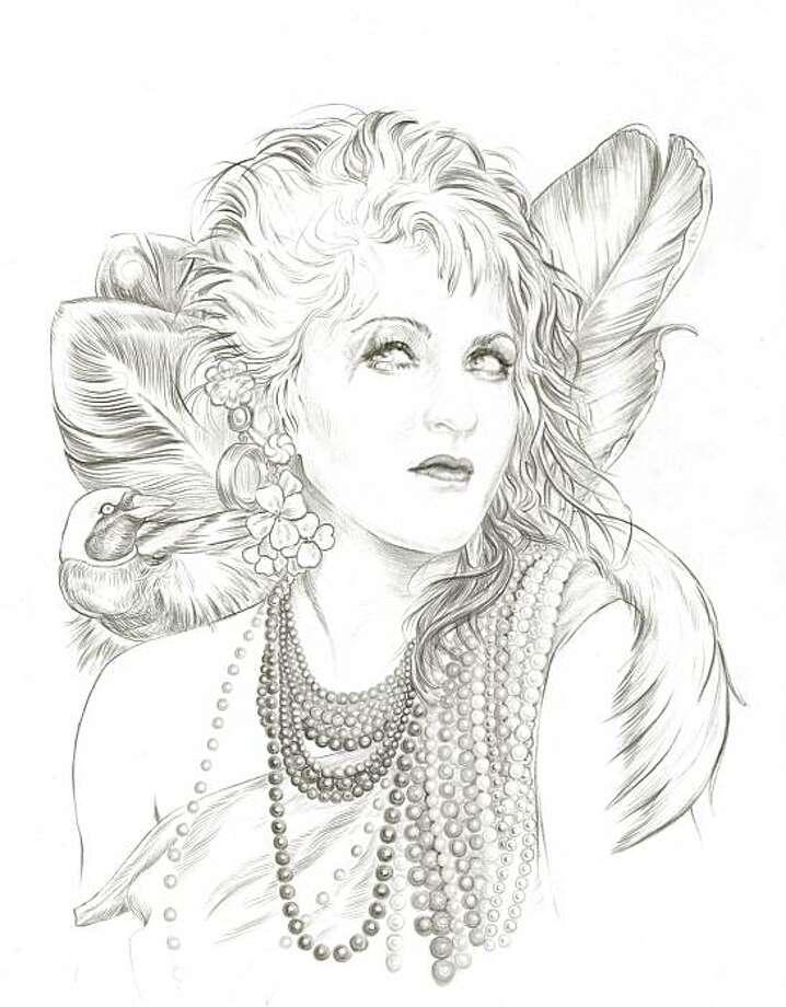 "Aiyana Udesen's ""Cyndi Lauper & Birds of Paradise."" Photo: Courtesy Of The Artist"