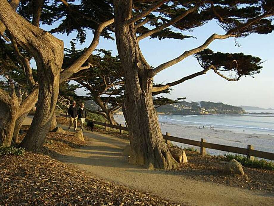 A walking path above Carmel Beach offers great views. Photo: Courtesy Of CarmelCalifornia.com