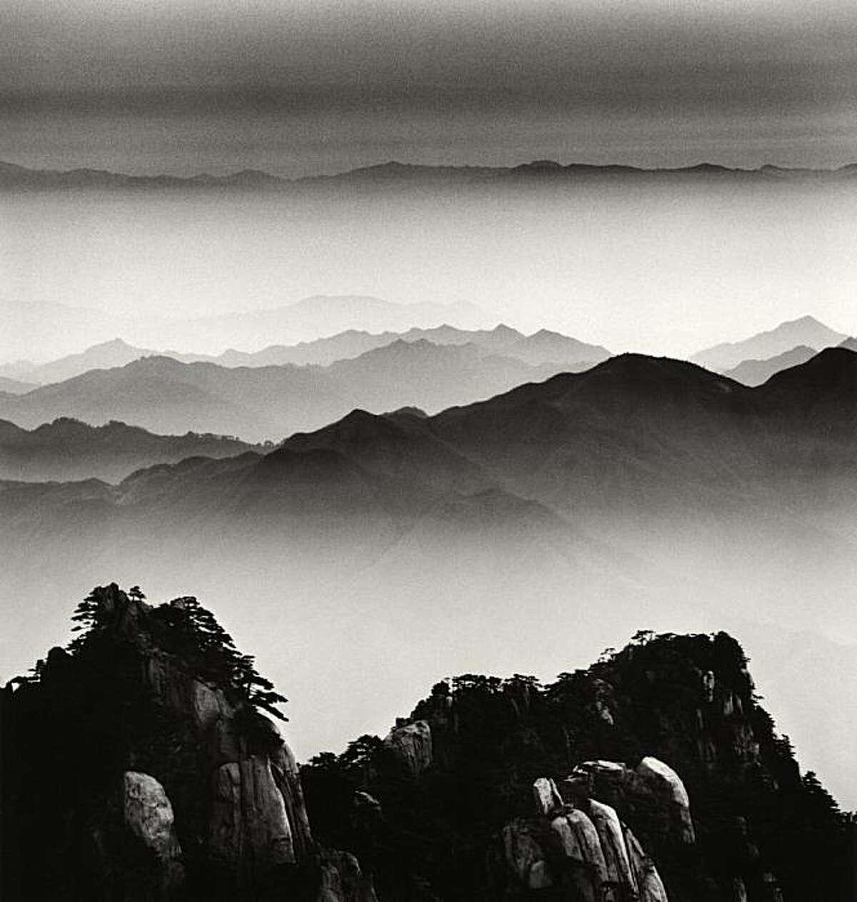 """Huangshan Mountains, Study 12, Anhui"" (2008) gelatin silver print by Michael Kenna"