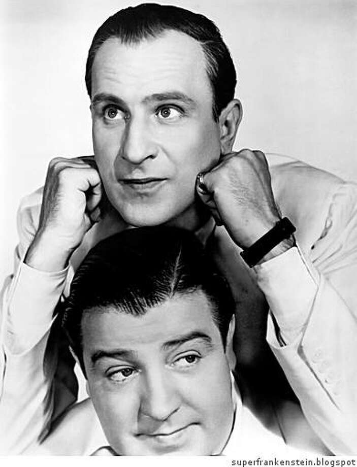 Comedians Bud Abbott (top) and Lou Costello Photo: Superfrankenstein.blogspot