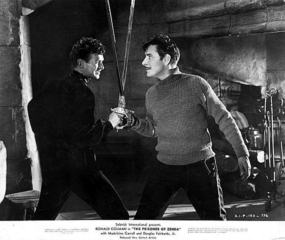 "Douglas Fairbanks Jr. (left) and Ronald Colman cross swords in John Cromwell's 1937 classic ""The Prisoner of Zenda."" Photo: United Artists 1937, Warner Home Video"