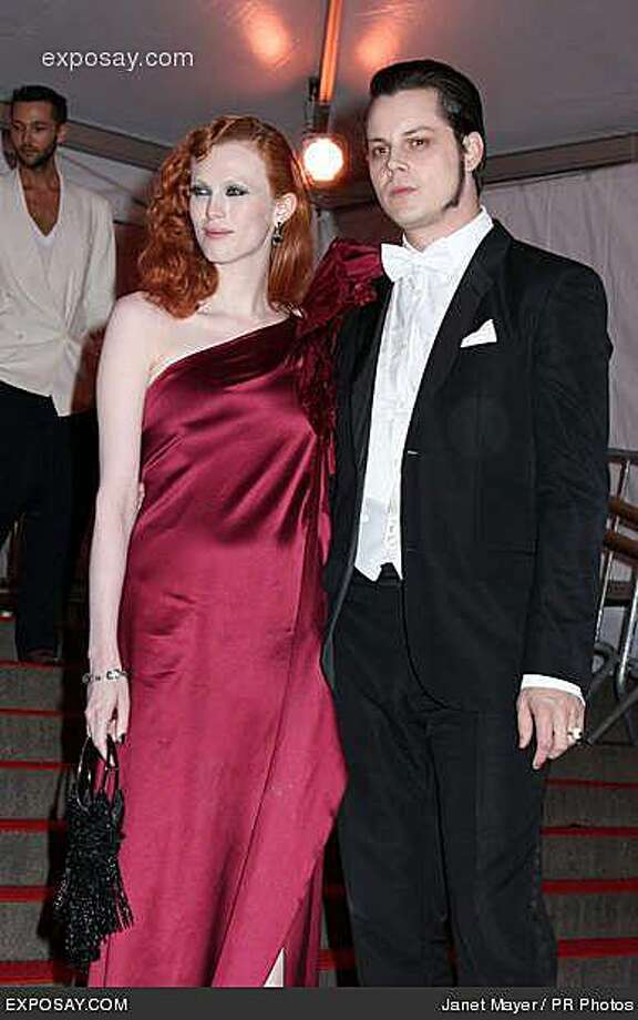Karen Elson and her husband, Jack White of the White Stripes. Photo: Janet Mayer, PR Photos