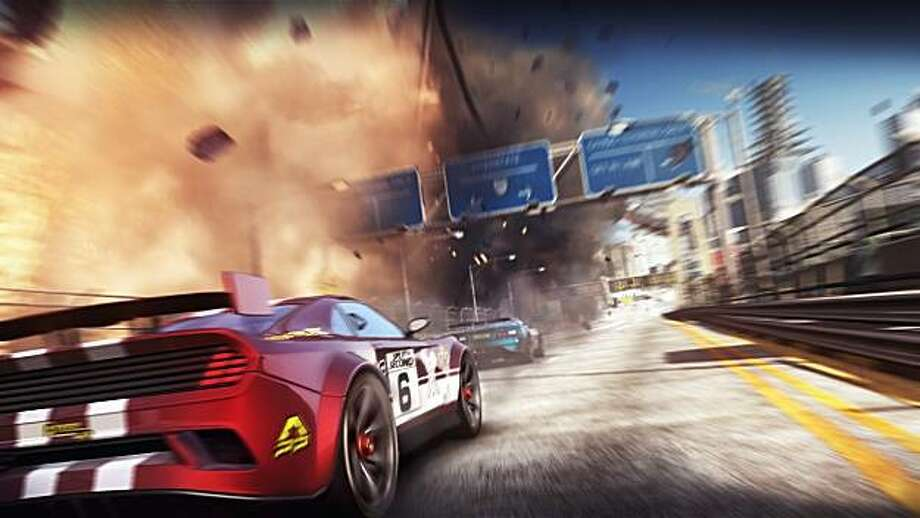Split/Second lets you to set off explosions along the track to slow down or wreck your opponents. Photo: Disney Interactive Studios