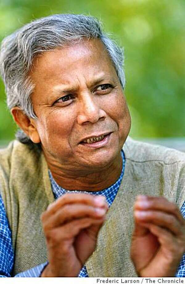Muhammad Yunus, known as the banker of the poor, launched the microfinance movement. Photo: Frederic Larson, The Chronicle