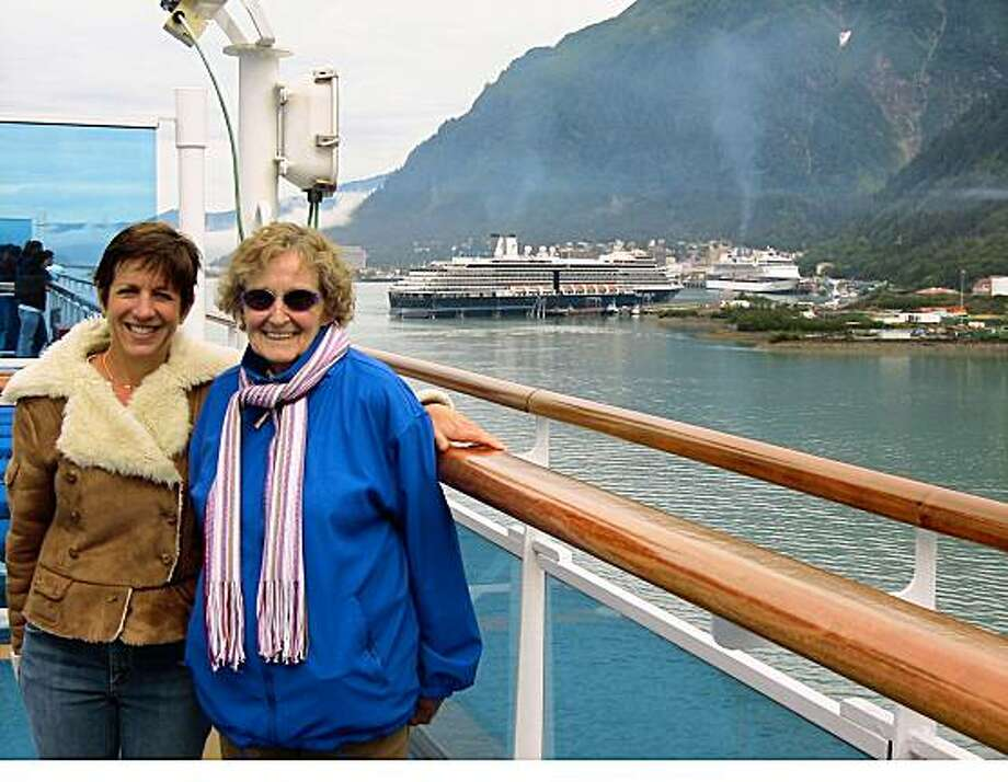 TRAVEL JUSTBACK -- Solange Elliott, 83, Micheline Owen, 47 and Veronica Owen 9, Solange from San Fransicso and Micheline and Veronica from OakalndEmail: michelineowen@sbcglobal.netDaytime phone number: 510 891-9579Just back from: Inside Passage Cruise - AlaskaI went because: We wanted to see something unique and close-by. The cuise worked for eveyone, given the 72 year difference between grandmother and granddaughter.Don't miss: Tracy Arm Fjord ? Spectacular deep blue icebergs and fantastic glaciers, White Horse Train out of SkagwayDon't bother: Steer clear of the cruise ship sponsored tour of totem polesCoolest souvenir: Hand-made clogs from the local in Skagway.Worth a splurge: Zip lining through the rainforest in Ketchikan (grandma opted out of that one)I wish I'd packed: Bring your umbrella and your hiking boots. Also bring your swimsuit. The ship has the pool and hot tubs cranked up!Other comments: We saw a whale breech right outside our balcony! However, we didn't see as much wildlife as I had hoped.Details of attached photo (if sent): Solange Elliott, Micheline Owen - Skagway, Alaska8/11/08 in , .inside_passage.JPG