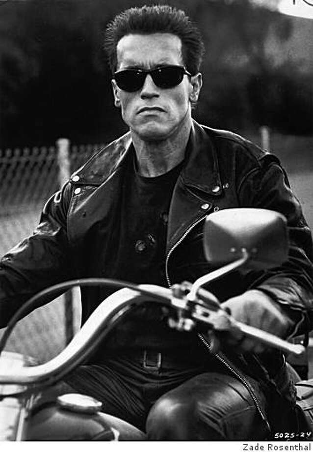 "Schwarzenegger looked good riding a morotcycle in ""Terminator 2: Judgement Day."" Photo: Zade Rosenthal, ZADE ROSENTHAL"