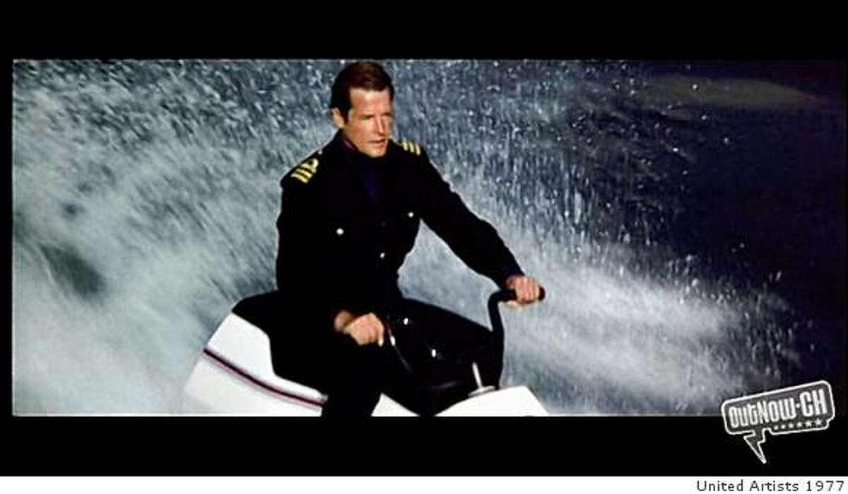 """Roger Moore in """"The Spy Who Loved Me."""""""