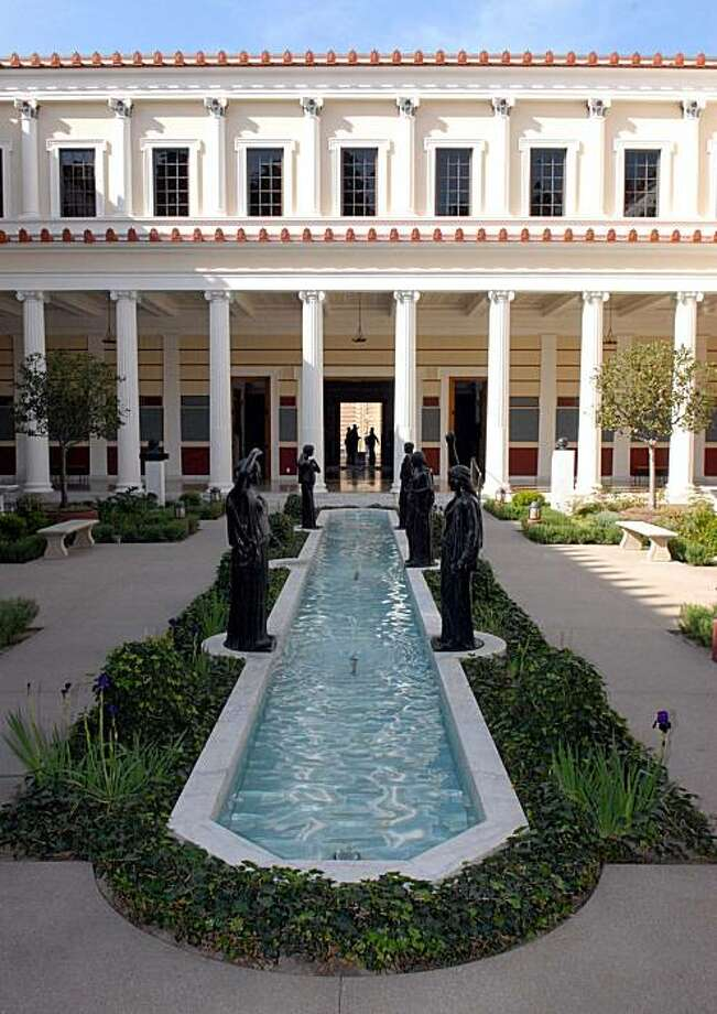 a view of the Inner Peristyle inside the J. Paul Getty Museum at the Getty Villa. Photo: J. Paul Getty Trust