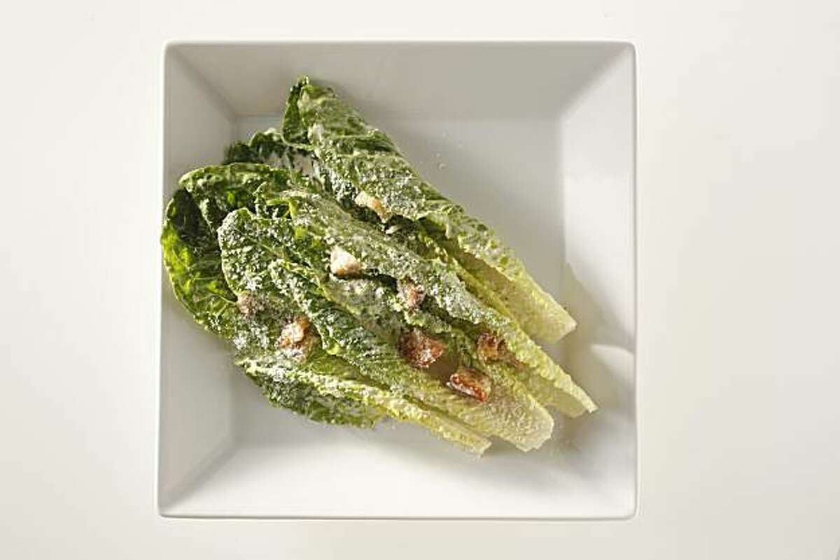 Recipe of Caesar salad from Bay Wolf restaurant in San Francisco, Calif., on May 26, 2010. Food styled by Anne Dolce.