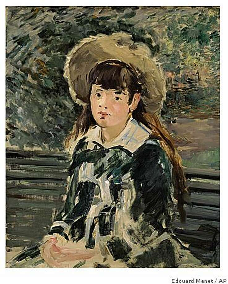 "This photo of a 1880 painting entitled ""Fillette sur un Banc,"" by Edouard Manet was released by Chrisite's auction house in New York, Tuesday, Nov. 4, 2008. The painting will be offered at auction by Christie's on Wednesday, Nov. 5, kicking off its fall auction season amid a jittery economy that on the first day produced a mix of strong prices for a number of 20th century masterpieces and a high percentage of unsold works. Sotheby's kicked off the season Monday, Nov. 3 with mixed results, selling 45 out of 70 works. (AP Photo/Christie's) **NO SALES** Photo: Edouard Manet, AP"