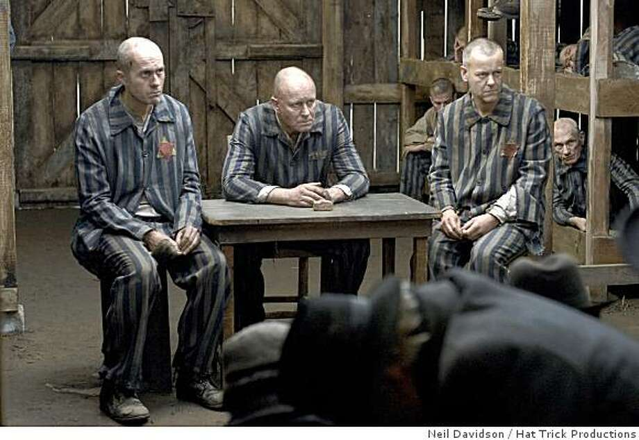 "Stephen Dillane as Schmidt, Stellan Skarsgard as Baumgarten, and Rupert Graves as Mordechai stars ""God on Trial"" in Sunday, November 9, 2008 at 9pm ET on PBS. Photo: Neil Davidson, Hat Trick Productions"