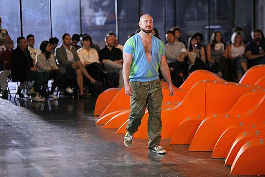 The Belgian designer Walter van Beirendonck re-staged WONDE?, his spring/summer 2010 Paris men?s fashion show at the Berkeley Art Museum Photo: Randy Brooke Photography