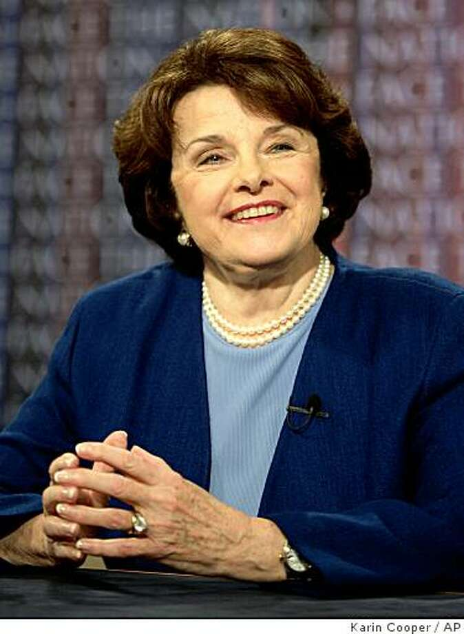"""In this photo provided by CBS, Sen. Dianne Feinstein appears on CBS's """"Face the Nation"""" in Washington, Sunday, May 20, 2007. Photo: Karin Cooper, AP"""