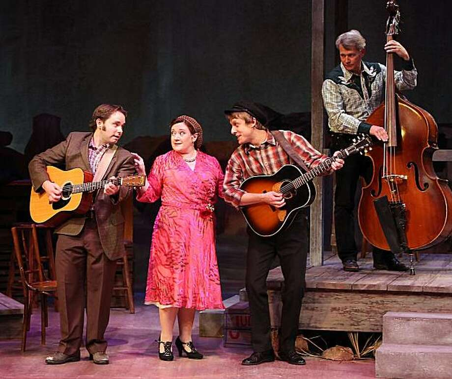 """Sam Misner (left), Lisa Asher, Matt Mueller and Chuck Ervin in """"Woody Guthrie's American Song"""" at Marin Theatre Company Photo: Ed Smith"""