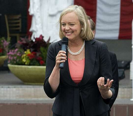 Meg Whitman, Republican candidate for Governor, speaks at a campaign rally at Asian Garden Mall in Westminster, Calif. Tuesday, June 1, 2010. (AP Photo/The Orange County Register, Jebb Harris)  NO SALES; MAGS OUT; LOS ANGELES TIMES OUT Photo: Jebb Harris, AP